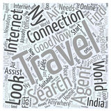Air travel agents to india in ny word cloud concept  background Royalty Free Stock Images