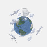 Air travel Royalty Free Stock Images