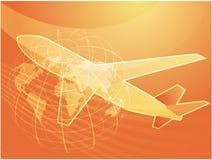 Air travel airplane Royalty Free Stock Photo