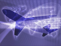 Air travel airplane Stock Photos