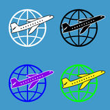 Air travel around the world Royalty Free Stock Photo