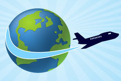 Air Travel. Background design illustration Royalty Free Stock Photography
