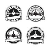 Air travel badges Stock Images