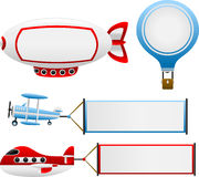 Air Travel Banners Stock Images