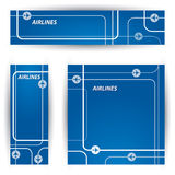 Air travel banners Royalty Free Stock Photography
