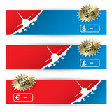 Air travel banners Stock Photos