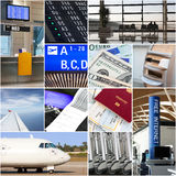 Air travel collage Stock Photos