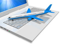 Air travel concept Stock Photography