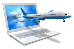 Air travel concept Stock Images