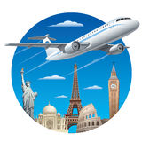 Air travel concept Royalty Free Stock Photo