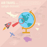 Air Travel. Concept illustration great for web,print or applications royalty free illustration