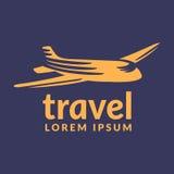 Air travel icon. Travel logo. Pin logo. Location on map logo concept. Plane icon. Plane logo. Plane vector. Airplane logo. Royalty Free Stock Image