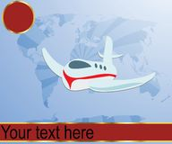 Air travel illustration Stock Image