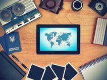 Air travel scheme Stock Image