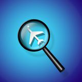 Air travel search Royalty Free Stock Image