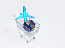 Air travel shopping Stock Image