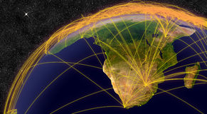 Air travel in South Africa Stock Image