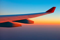 Air travel at sunrise.  Royalty Free Stock Photography