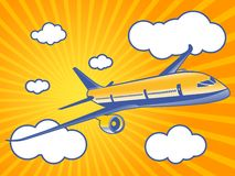 Air travel throught a clouds Stock Photos