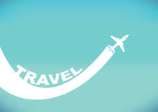 Air Travel Vector Background Royalty Free Stock Images