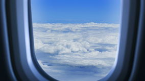 Air travel. View from a window of aircraft stock video
