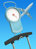 Air travel weight limits Royalty Free Stock Photography