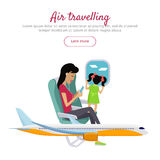 Air Travelling Conceptual Banner. Vector design Royalty Free Stock Images