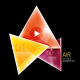 Air triangle abstract background Stock Photography