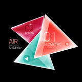 Air triangle abstract background Royalty Free Stock Photo