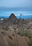 Air trip Famous city  Cappadocia in Turkey Stock Image