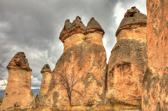 Air trip Famous city  Cappadocia in Turkey. The Hittites settled Cappadocia from 1800 BC to 1200 BC, after which smaller kingdoms held power. Then came the Stock Image