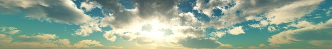 air unpolluted xxl för den klara för oklarheter tidiga för mappen fluffiga ljusa för morgonen för berg skyen för panoramat Royaltyfria Bilder