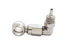 Air valve stem Stock Photo