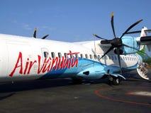 Air Vanuatu ATR72 nivå Fotografering för Bildbyråer