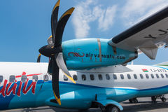 Air Vanuatu ATR plane Royalty Free Stock Image