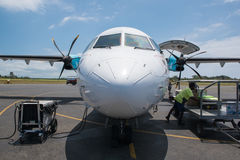 AirVanuatu ATR plane Royalty Free Stock Photo