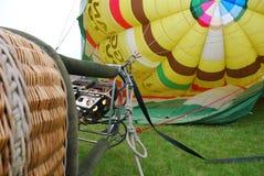 air varm inflating för ballong Arkivfoton