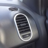 Air vent on car dashboard Stock Photography