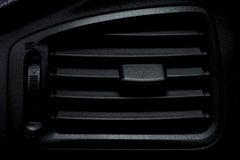 Air vent on car dashboard stock images