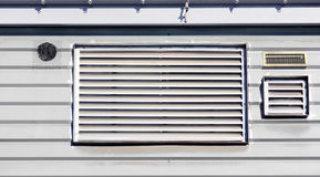 Air vent ducts for ventilation on wall royalty free stock photo