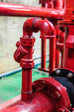 Air vent fire piping. Air vent pipe for fire piping system Royalty Free Stock Photo