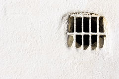 Air vent on white wall Royalty Free Stock Image