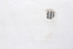 Air vent in white wall Stock Photos