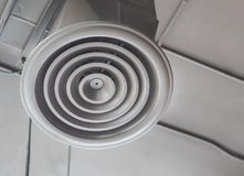 Air Ventilating tube installed on the ceiling Royalty Free Stock Photo