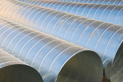 Air ventilation pipes. Abstract details from air ventilation pipes at a construction site stock photos