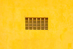Air Ventilation on Yellow wall background texture. Air Ventilation or Outlet on Yellow wall background texture Royalty Free Stock Photos