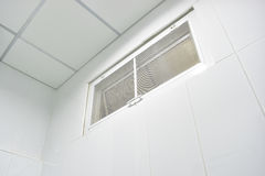 Air vents. In the bathroom ,The insect nets Stock Photography