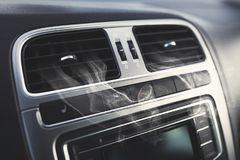Air vents in a car. Clean air vents in a modern car royalty free stock photography