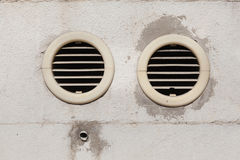 Air vents fixed on an outside wall Royalty Free Stock Image