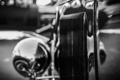 Air vents on the side of an old hot-rod. Air vents on the side of an old hot-rod royalty free stock image